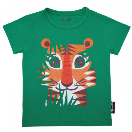 Kinder T-Shirt Tiger, grün